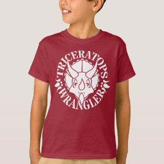 Der T - Shirt der Triceratopswrangler-Jungen