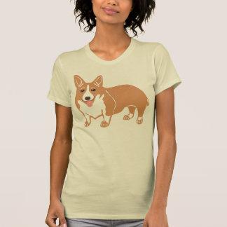 Der T - Shirt der Walisercorgi-Frauen, Creme