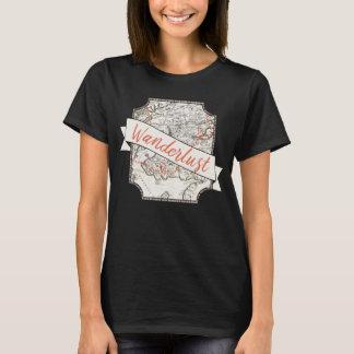 Der T - Shirt der Wanderlust-Frauen
