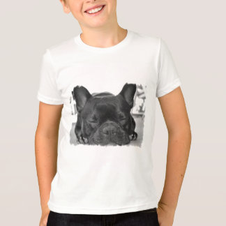 Der T - Shirt des französische Bulldoggen-Mädchens