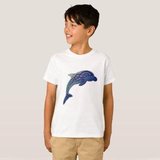 Der T - Shirt des keltisches Delphin-Kindes