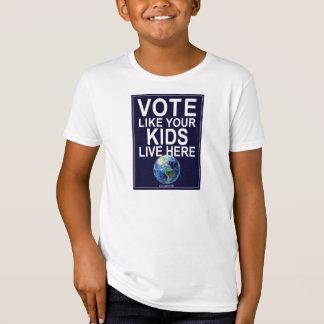 Der T - Shirt des Kindes - Abstimmung wie Ihre