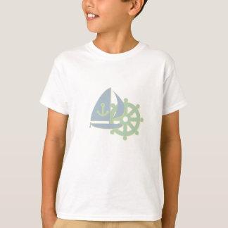 Der T - Shirt des Segeln-Team-Kindes