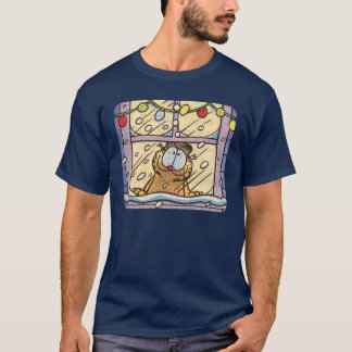 Der T - Shirt Garfield-Weihnachtsabends-Männer