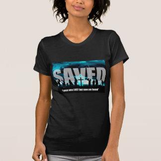Der T - Shirt-Kunst der geretteten christliche T-Shirt