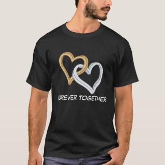 Der T - Shirt verbindenden Herzenvalentines