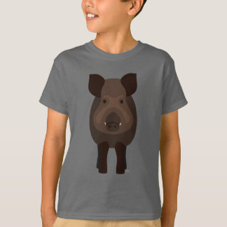 Der T - Shirt wilder Eber Kinder