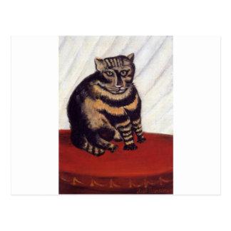 Der Tabby durch Henri Rousseau Postkarte