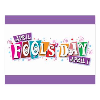 Der Tag der Aprilscherze - 1. April Postkarte