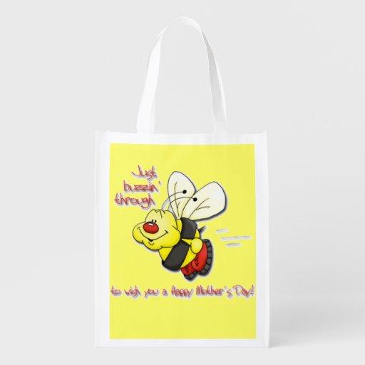 Der Tag der Buzzin Bienen-Mutter Wiederverwendbare Einkaufstasche