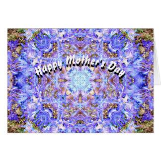 Der Tag der Hyazinthen-Mandala-Mutter Karte