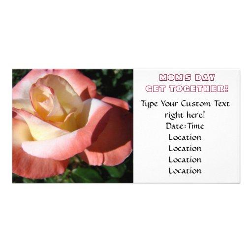 Der Tag der Mammas! Treffen der Einladungs-Mutter  Photokartenvorlage