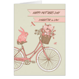 Der Tag der Mutter für Schwiegertochter-Fahrrad Karte