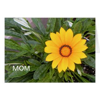 Der Tag der Mutter, gelbe Blume Karte