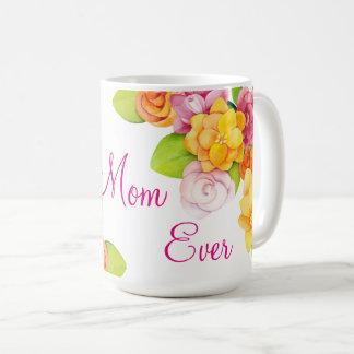 Der Tag der Mutter - helle Spaß-Blumen Kaffeetasse