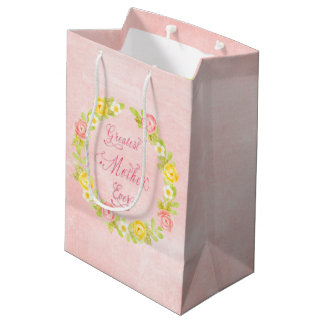 Der Tag der Mutter - hübsche Watercolor-Rosen 2 Mittlere Geschenktüte