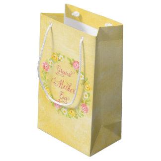 Der Tag der Mutter - hübsche Watercolor-Rosen 3 WA Kleine Geschenktüte