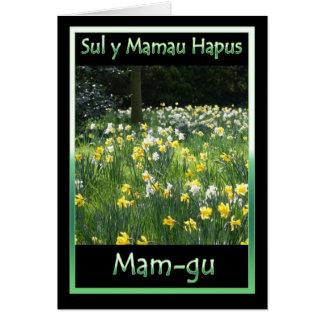 Der Tag der Mutter, Narzisse, Grußkarte