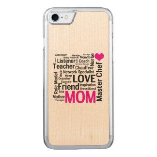 Der Tag der Mutter oder der Geburtstag der Mammas Carved iPhone 8/7 Hülle