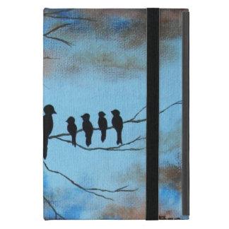 Der Tag der Mutter, schwarze Vögel auf iPad Mini Etui
