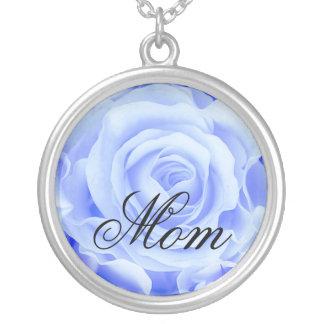 Der Tag der Mutter, viktorianische blaue Rose, sch Halskette Mit Rundem Anhänger