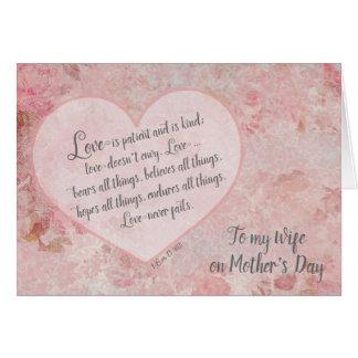Der Tag der Mutter zu Herzen 13 Ehefrauscripture-1 Karte