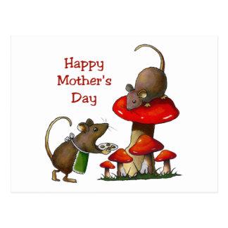 Der Tag der Mutter: Zwei Mäuse u. Toadstool: Postkarten