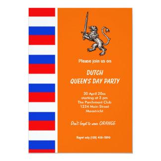 Der Tag der niederländischen Königin 12,7 X 17,8 Cm Einladungskarte