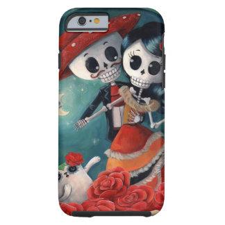 Der Tag der toten Skeleton Liebhaber Tough iPhone 6 Hülle