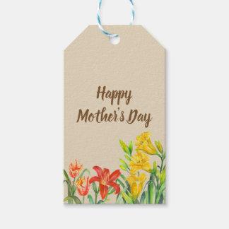 Der Tag der Watercolor-Sommer-Blumen-Mutter Geschenkanhänger