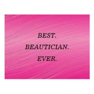Der Tag des besten Beauticians wünscht Postkarte