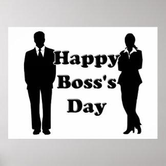 Der Tag des Chefs Plakatdrucke