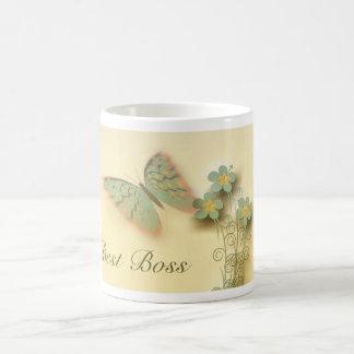 Der Tag des glücklichen Chefs mit Schmetterling Tasse