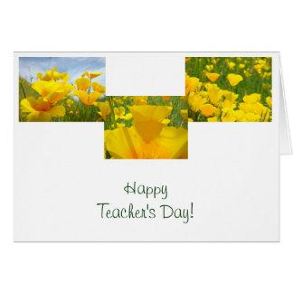 Der Tag des glücklichen Lehrers! Karten-Mohnblumen