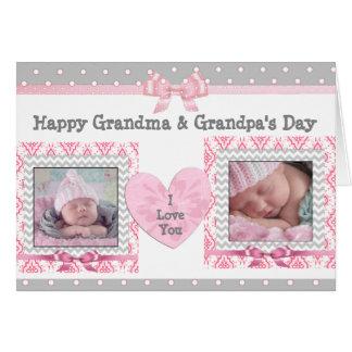 """Der Tag des rosa u. grauen Großvaters """"ich Liebe, Karte"""