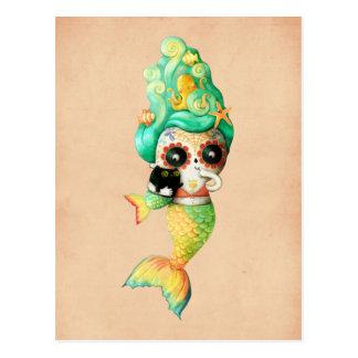 Der Tag des toten Meerjungfrau-Mädchens Postkarte