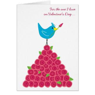 Der Tag des Valentines die eine i-Liebe-Drossel Grußkarte