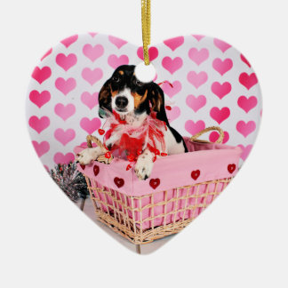 Der Tag des Valentines - Dottie - Dackel Keramik Ornament