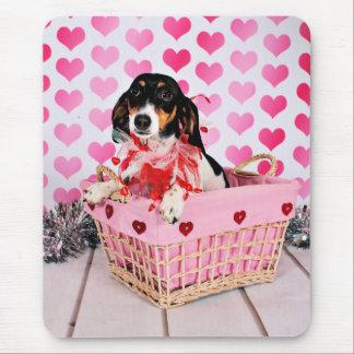 Der Tag des Valentines - Dottie - Dackel Mauspad