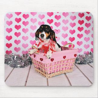 Der Tag des Valentines - Dottie - Dackel Mauspads