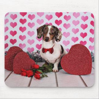 Der Tag des Valentines - Freund - Dackel Mousepads