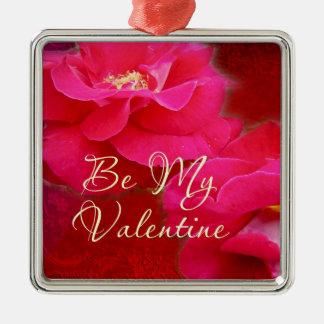 Der Tag des Valentines - Romance und Rote Rosen Silbernes Ornament