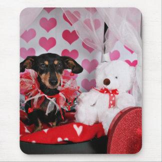 Der Tag des Valentines - Trudy - Dackel Mauspads
