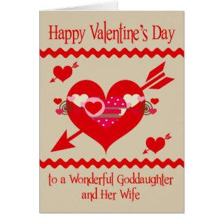 Der Tag des Valentines zur Patenttochter und zur Karte