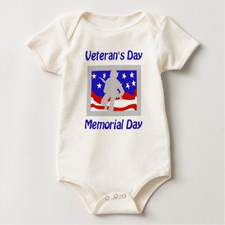 Der Tag des Veterans/Volkstrauertag Baby Strampler