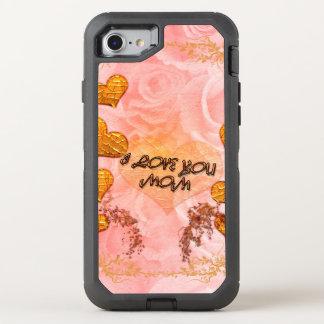 Der Tag, die Herzen und die Rosen der Mutter in OtterBox Defender iPhone 8/7 Hülle