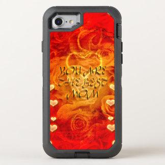 Der Tag, die Herzen und die Rosen der Mutter OtterBox Defender iPhone 8/7 Hülle