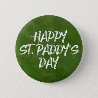 Der Tag glücklichen St.-Paddys Runder Button 5,7 Cm