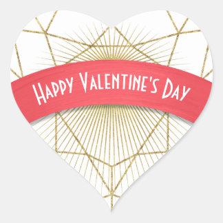 Der Tag Goldkunst-Deko-Herzvalentines Herz-Aufkleber