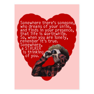 Der Tag Jäger Anti  Valentinsgrüße Postkarte